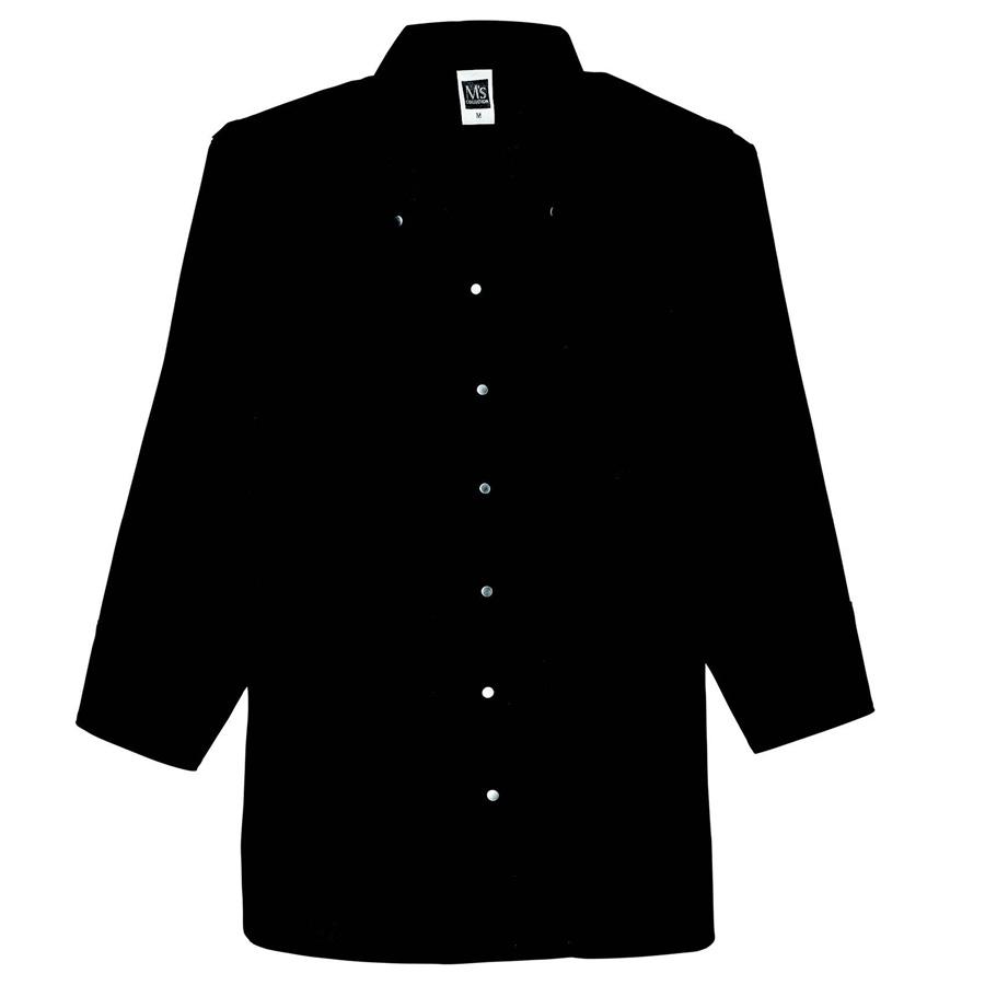 七分袖ボタンダウンシャツ レディス 1582 00 ブラック