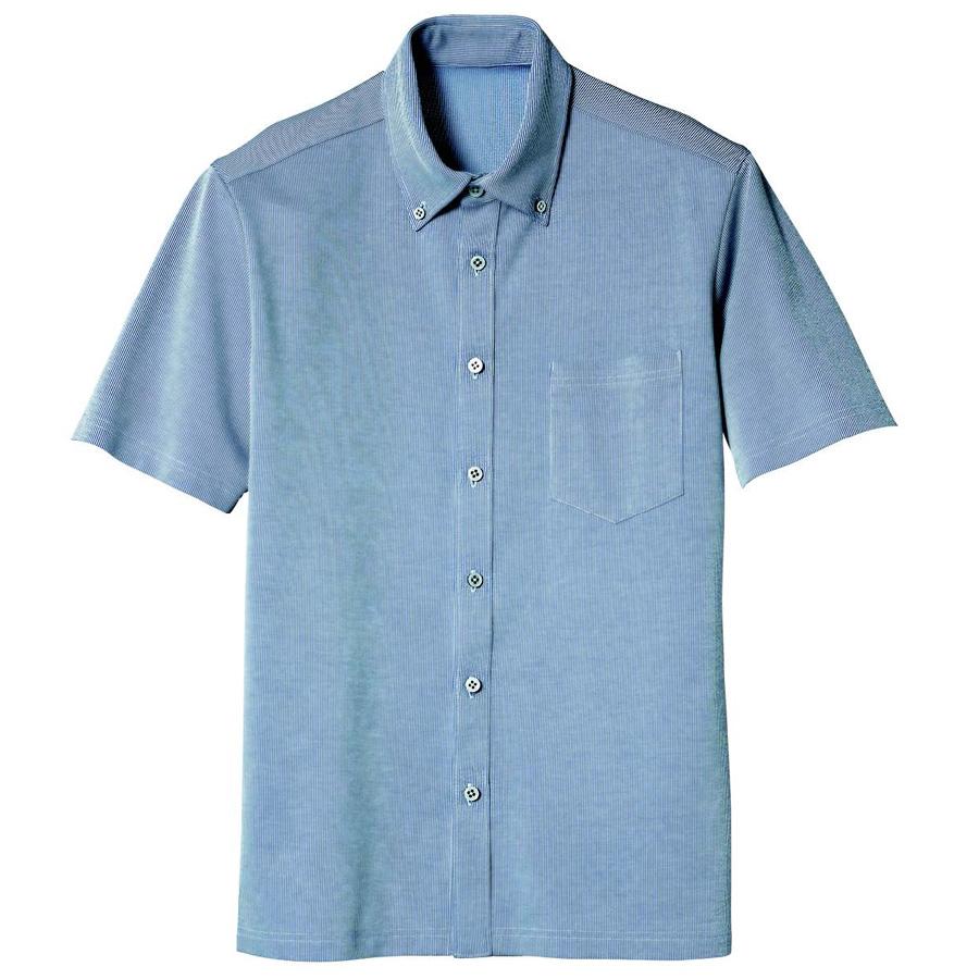 半袖ボタンダウンニットシャツ 1646 56 ブルー
