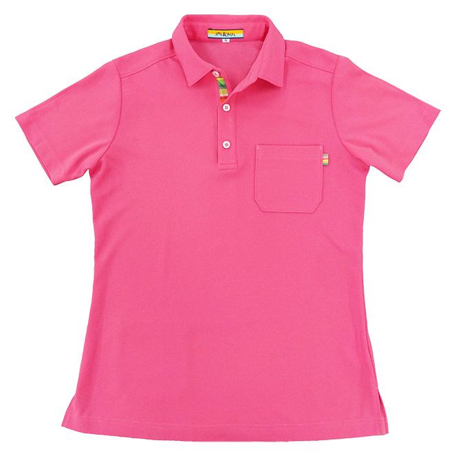 カラーテープポロシャツ 1652 58 ピンク