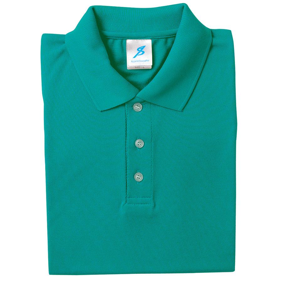 吸汗速乾シャツ 清涼感半袖ポロシャツ T06SP−55 エメラルドブルー