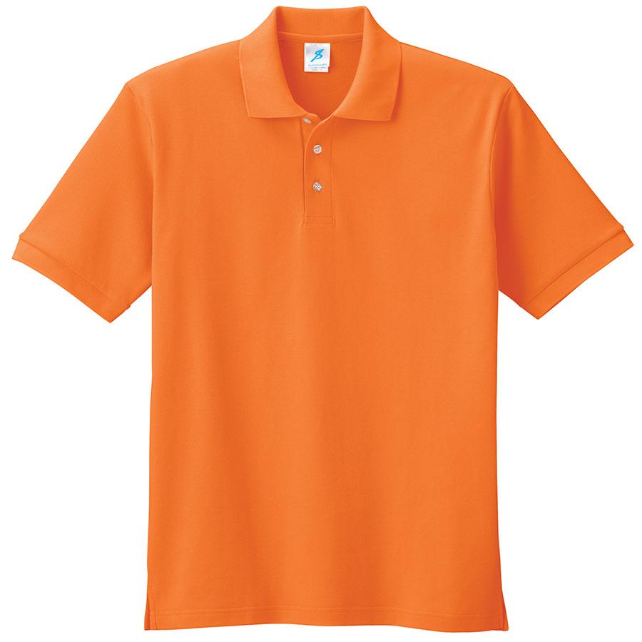 吸汗速乾シャツ 清涼感半袖ポロシャツ T06SP−27 オレンジ