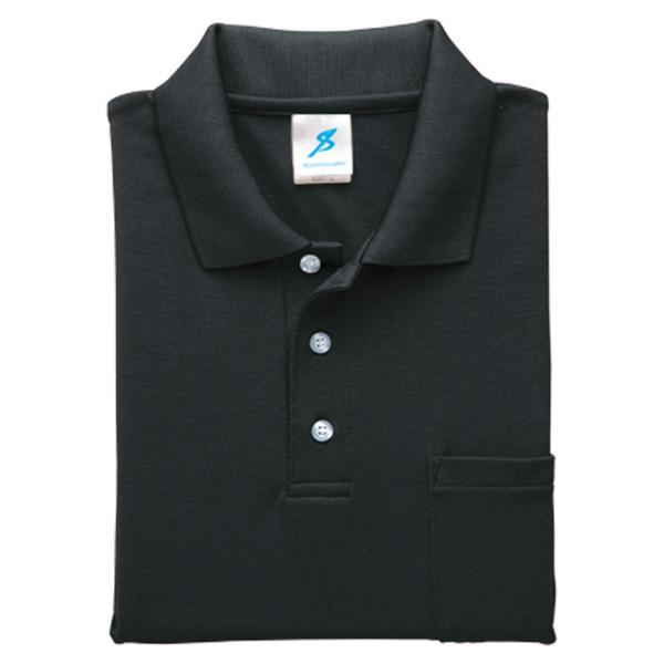 清涼感半袖ポロシャツ (ポケ付) T17PS−11 ブラック