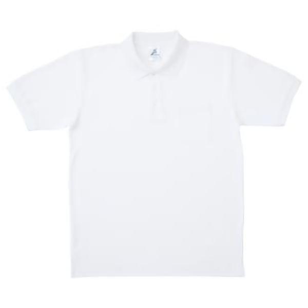 制電糸入 清涼感ポロシャツ (ポケ付) T24SS−012 ホワイト
