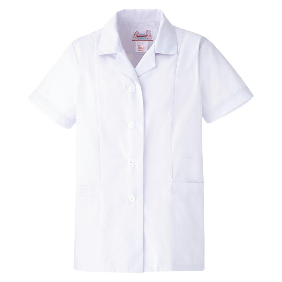 女子衿付 半袖 白衣 EB431