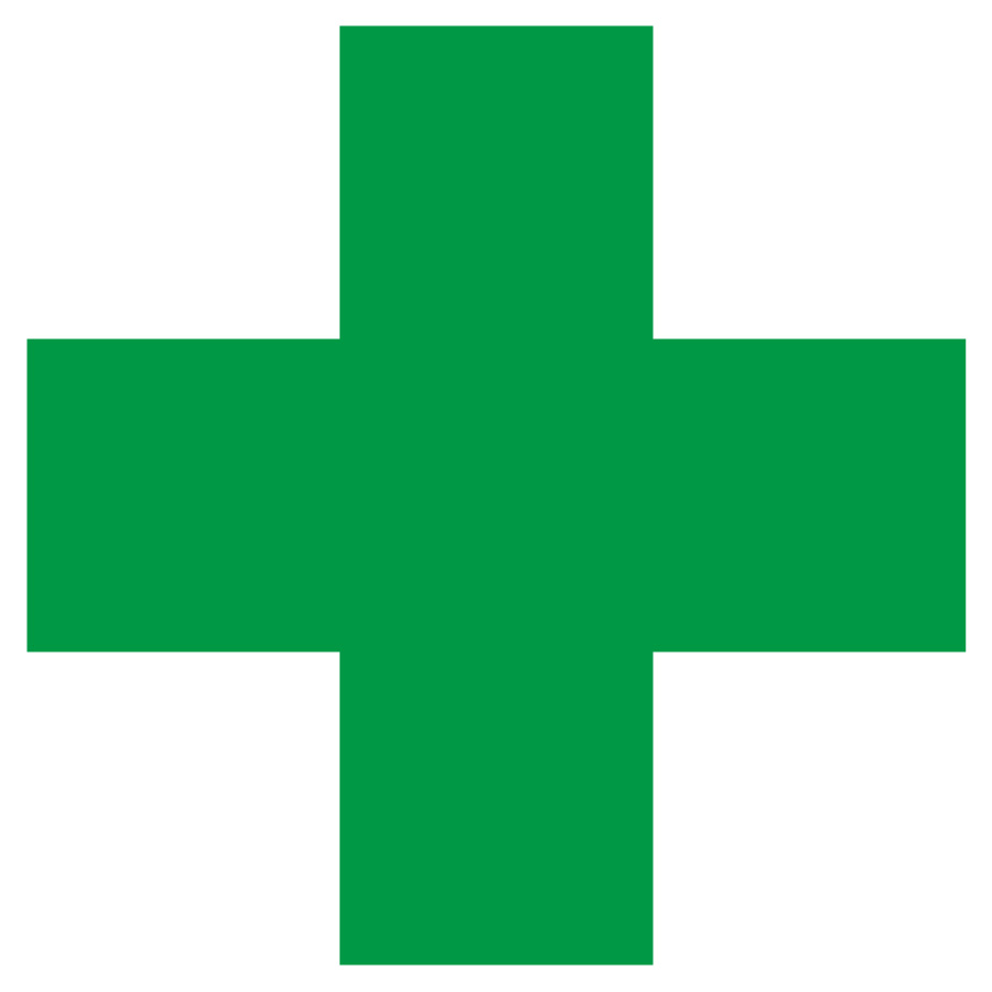 緑十字ステッカー 371−10 45×45 10枚入
