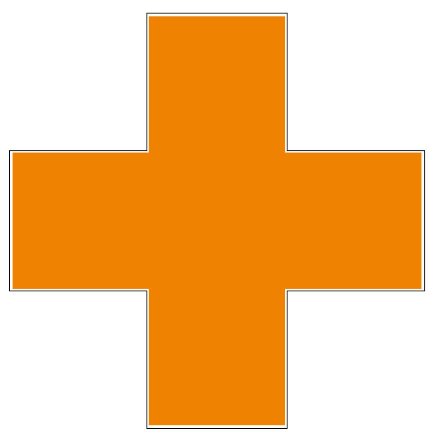 オレンジ十字ステッカー 371−13 10枚入