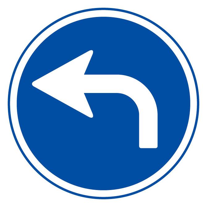 道路用標識(仮設用) 395−301L 指定方向外進行禁止 (左矢印)