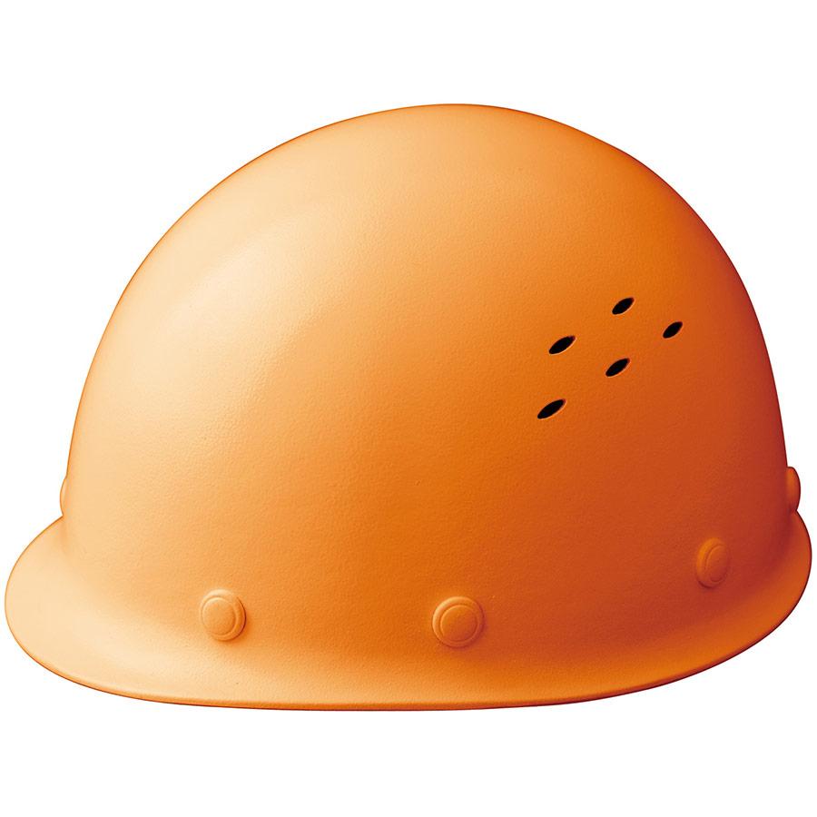 通気孔付 軽量ヘルメット SC−LMV RA KP付 オレンジ