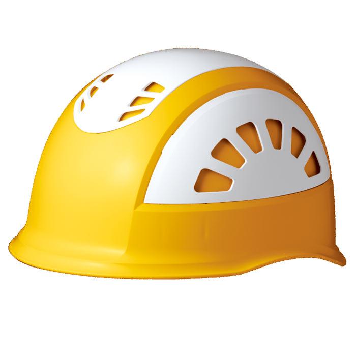 ヘルメット SC−17BV RA KP イエロー/ホワイト