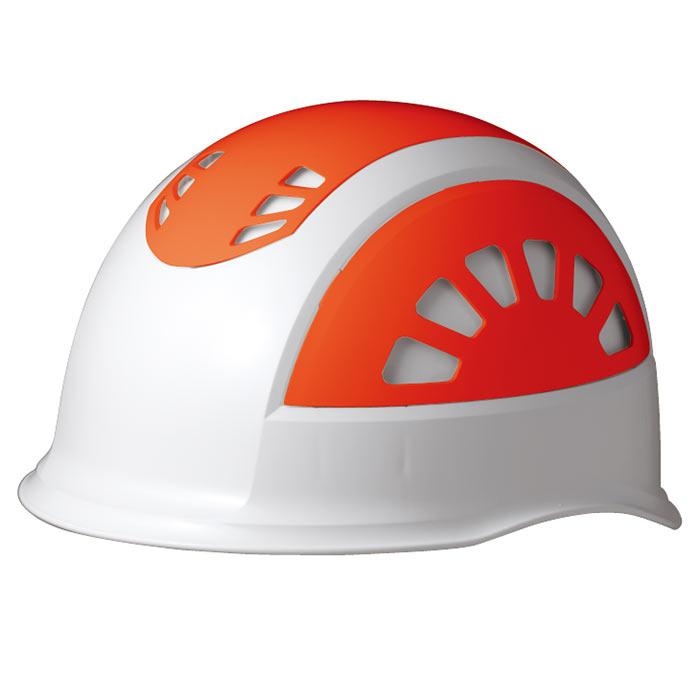 ヘルメット SC−17BV RA NS KP ホワイト/オレンジ 消臭汗止