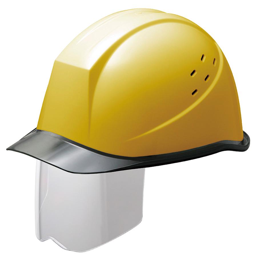 遮熱ヘルメット SCH−11PCLVS RA KP付 イエロー/スモーク