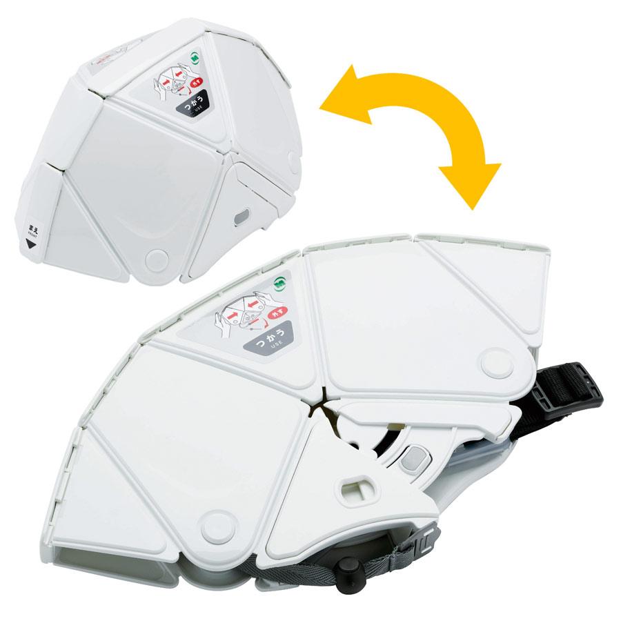 折りたたみ防災ヘルメット TSC−10N Flatmet2 ホワイト