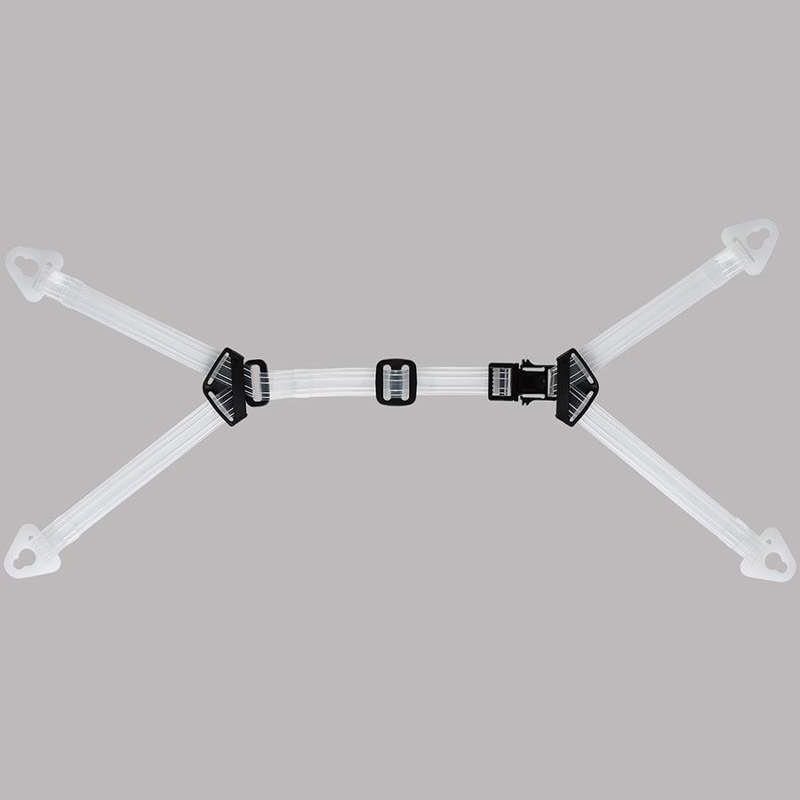 【交換用】 ヘルメット内装品 透明耳アゴ紐