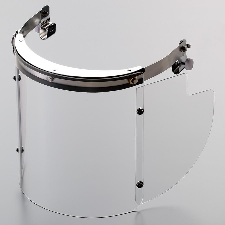 ヘルメット取付型防災面 MB−1235H アクリル M−1金具付
