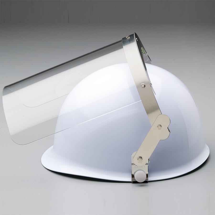 ヘルメット取付型防災面 MB−121HSJ (平面) M−1金具付