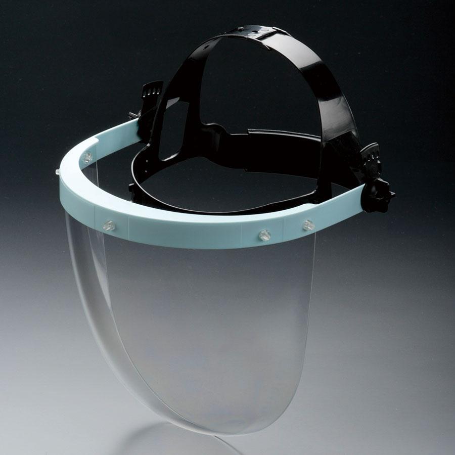 作業帽用かぶり型防災面 帯電防止シールド面 MB−73AE