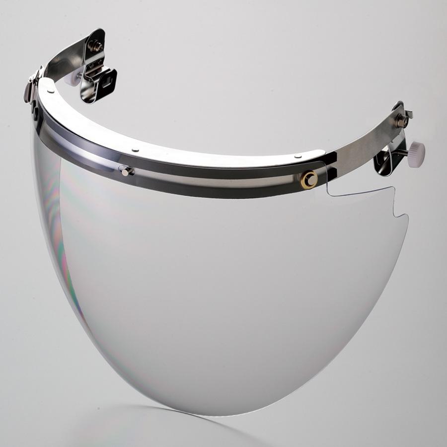 ヘルメット取付型防災面 MB−115H−PC M−1付 ポリカーボ球面