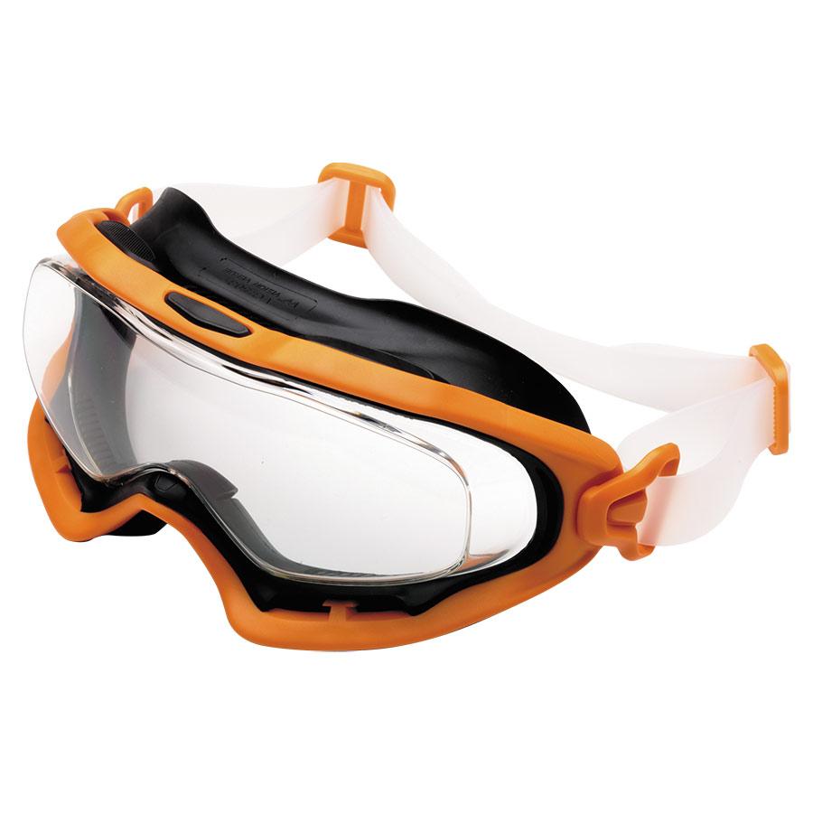 ビジョンベルデ 保護メガネ VG−503F シリコンバンド オレンジ