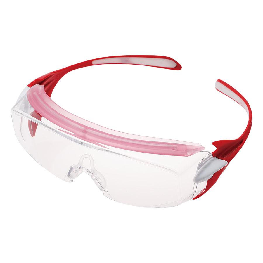 ビジョンベルデ 小型 保護めがね オーバーグラス VS−303F ピンク
