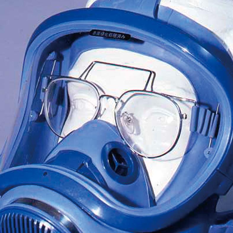 マスクオプション ハイスコープV型面体用メガネ (メガネフレームのみ)