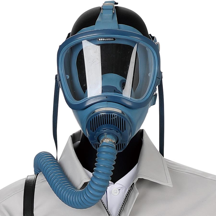 一定流量形エアラインマスク 12号HV−Y腰ベルト付 携帯式ろ過筒型 1本蛇管式