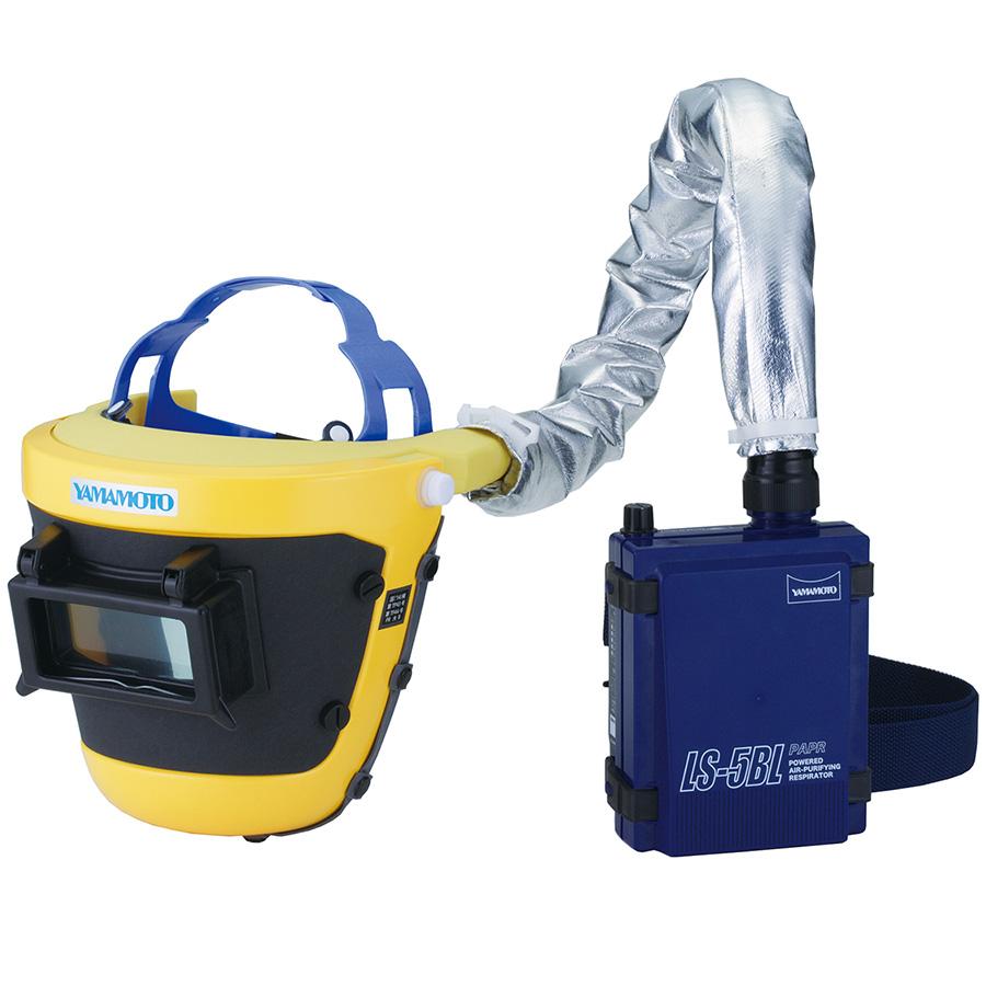電動ファン付き呼吸用保護具 溶接作業向け かぶり型 LS−455WP;SAH