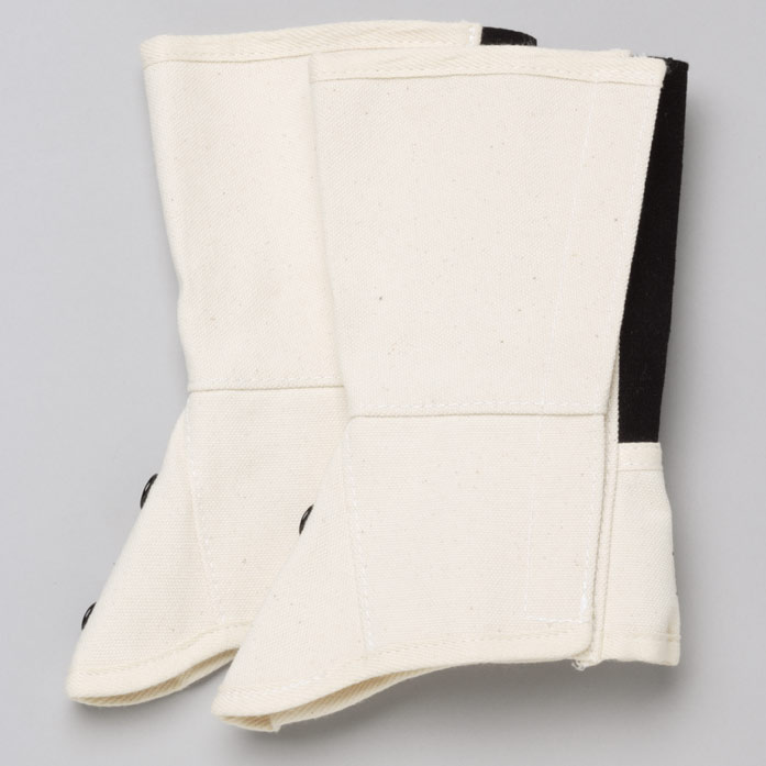 ML−1201 帆布 脚絆 面ファスナー式 白 LL