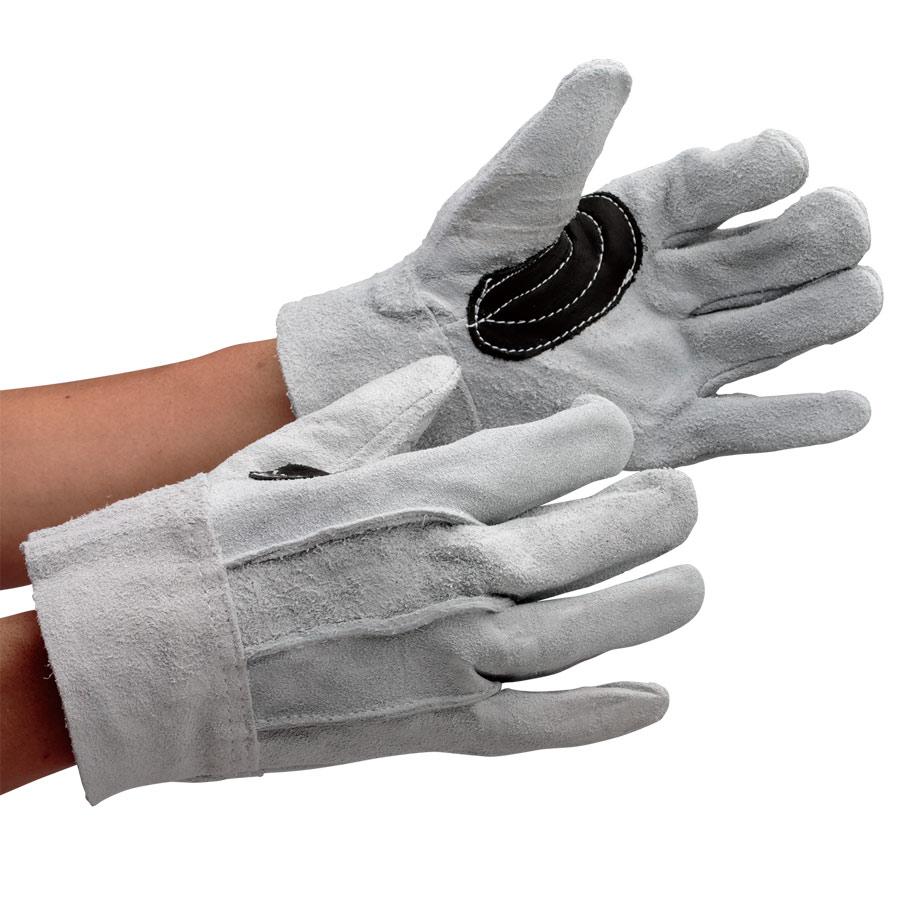 革手袋 AG3010 牛床革 背縫い 黒アテ付 (販売単位:12双)