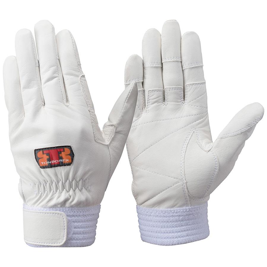 トンボレックス ソフト山羊革製手袋 G−REX32W ホワイト L