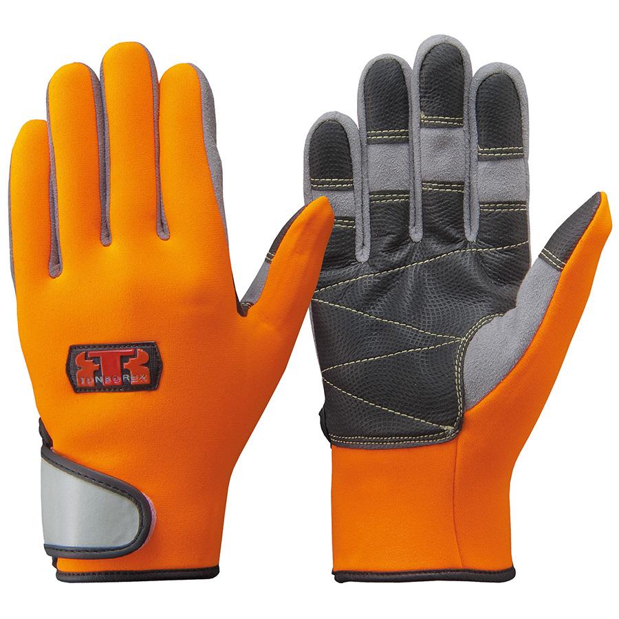 トンボレックス 水難救助用手袋 人工皮革補強 N−903R オレンジ M