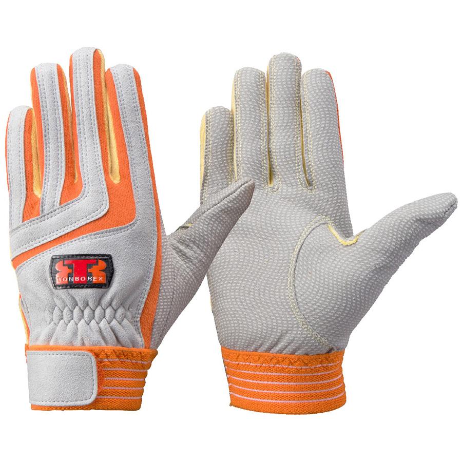 トンボレックス ケブラー(R)繊維製手袋 K−501R オレンジ×イエロー S