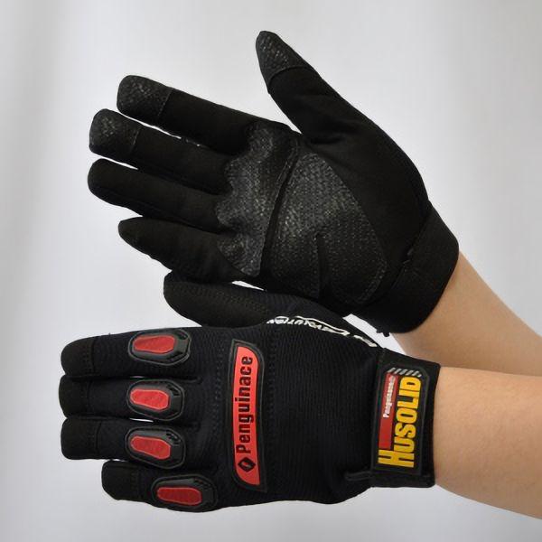 作業手袋 ヒューソリッド ブラック H−1 M (発注単位:6双)