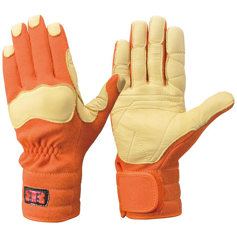 トンボレックス ケブラー(R)繊維製手袋 K−144R オレンジ S