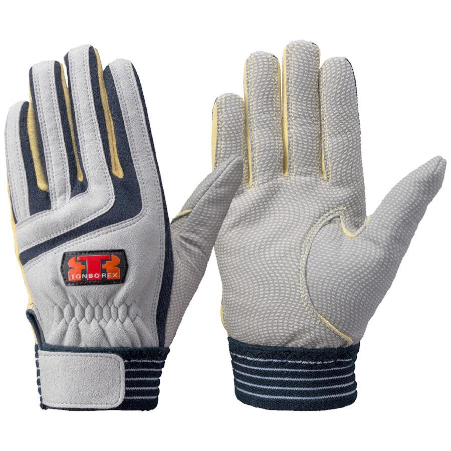 トンボレックス ケブラー(R)繊維製手袋 K−501NV ネイビー×イエロー L