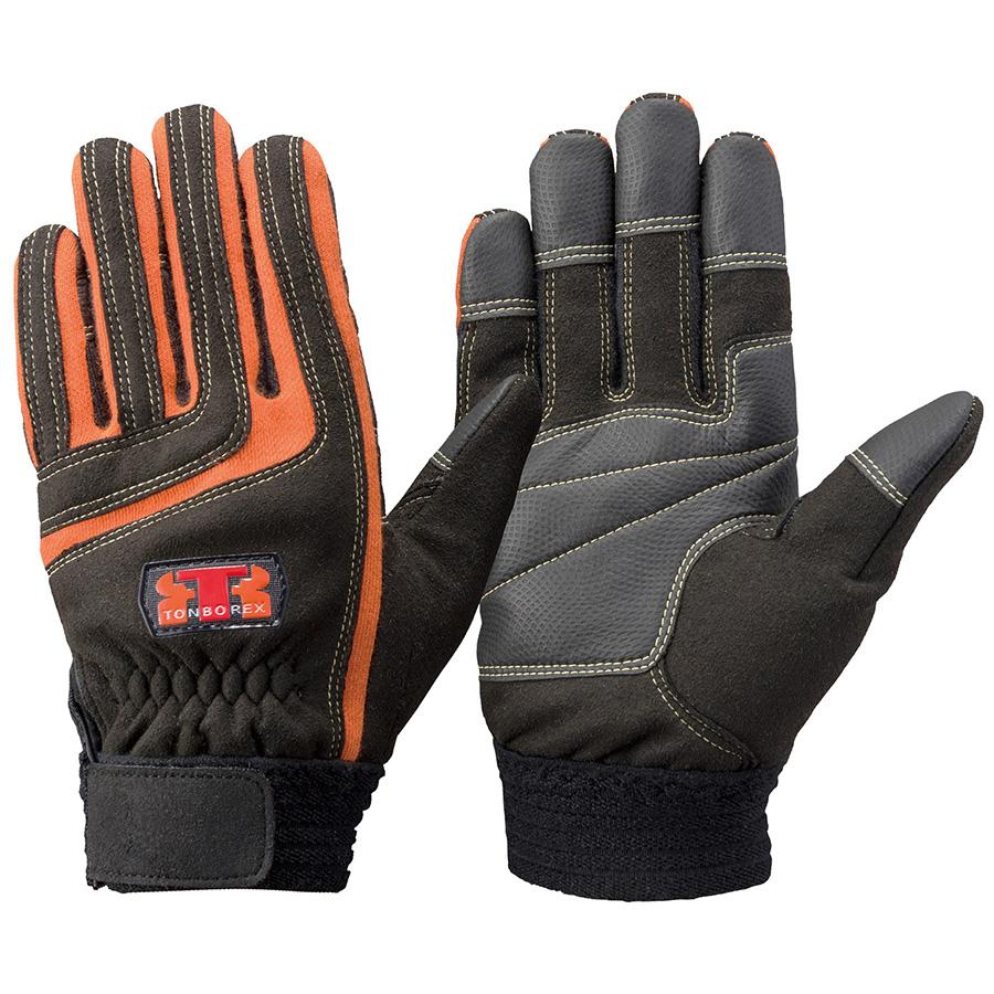 トンボレックス ケブラー(R)繊維製手袋 K−512R ブラック/オレンジ L