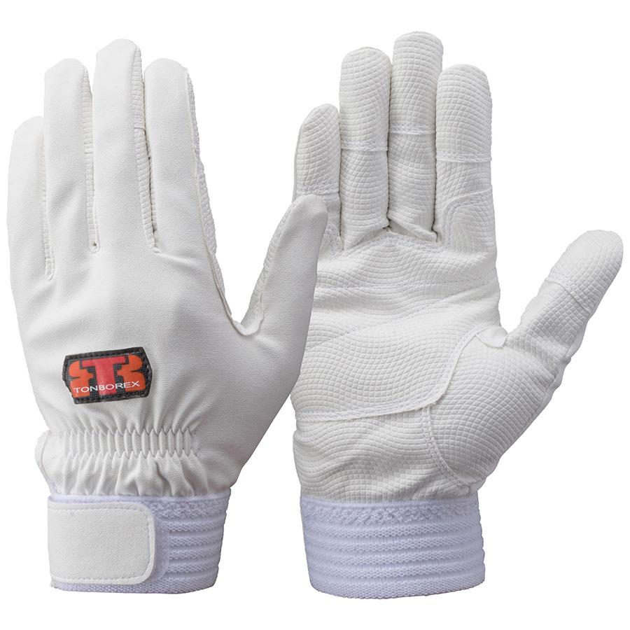 トンボレックス 合成皮革手袋 E−831W ホワイト M