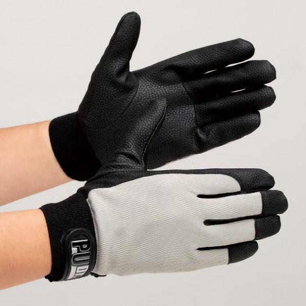 合成皮革手袋 ソフトタイプ PUドクター グレー M 10双入