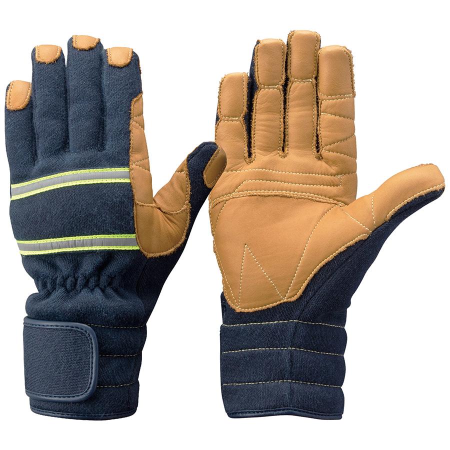 トンボレックス ケブラー(R)繊維製防火手袋 K−TFG7NV ネイビー LL
