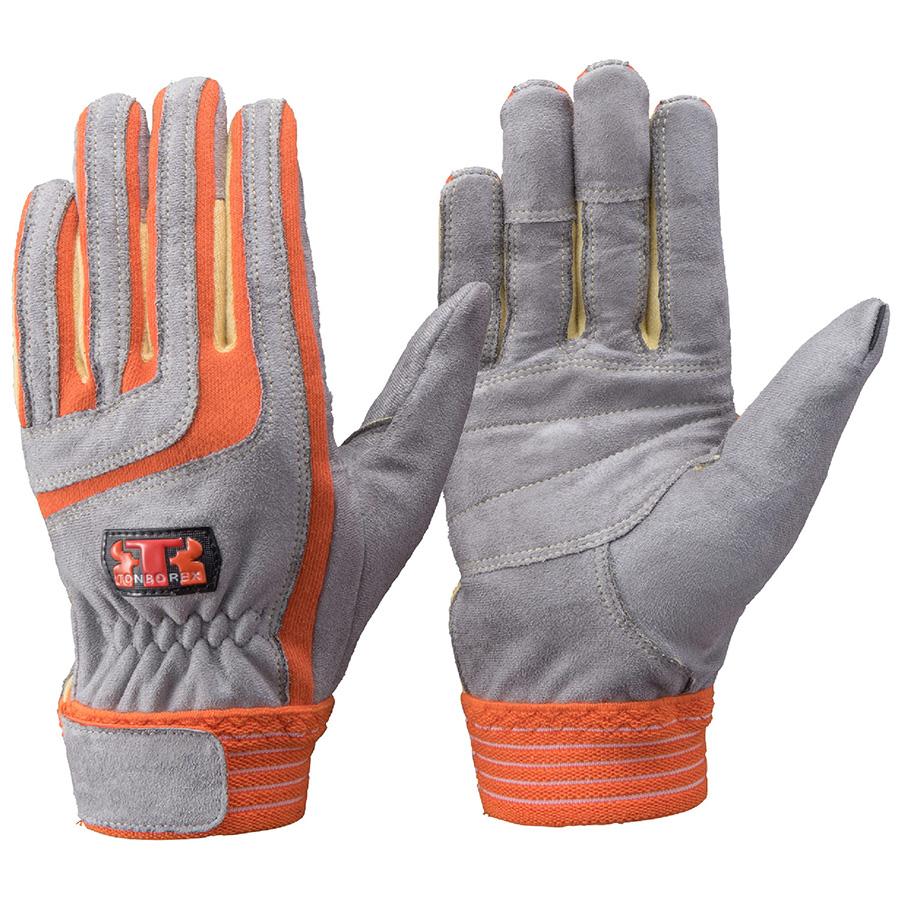 トンボレックス ケブラー(R)繊維製耐切創手袋 K−5017R オレンジ M