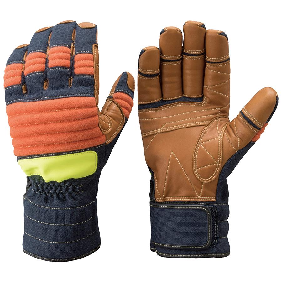 トンボレックス ケブラー(R)繊維製防水手袋 K−A183NV 紺×橙 SS