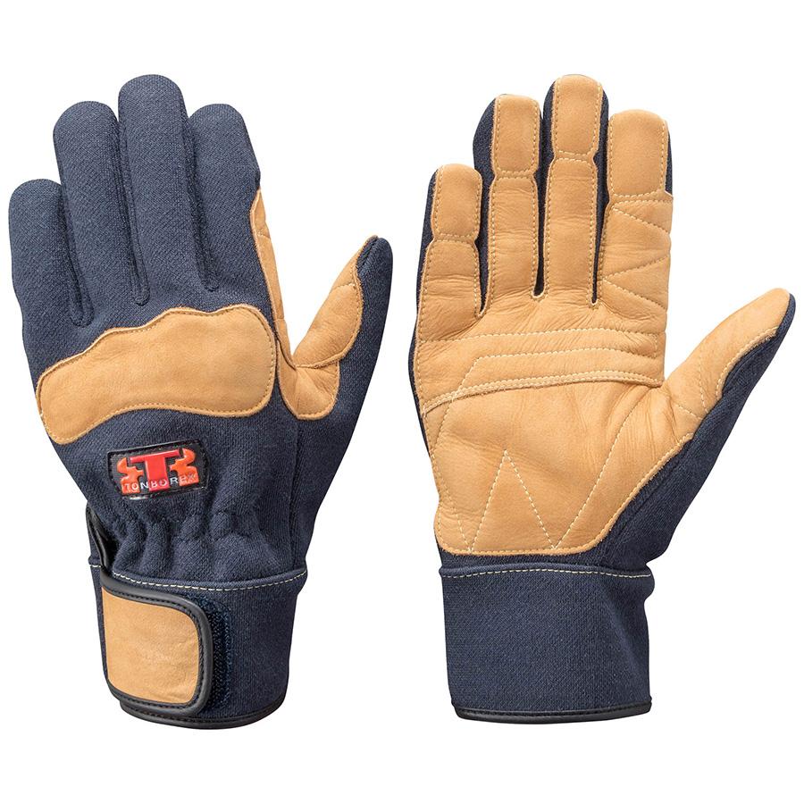 トンボレックス ケブラー(R)繊維製防火手袋 K−G102NV ネービー SS