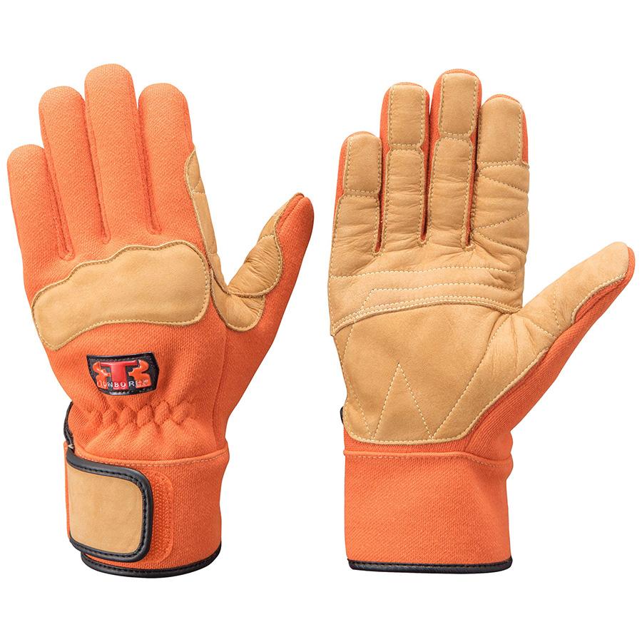 トンボレックス ケブラー(R)繊維製防火手袋 K−G102R オレンジ 3L