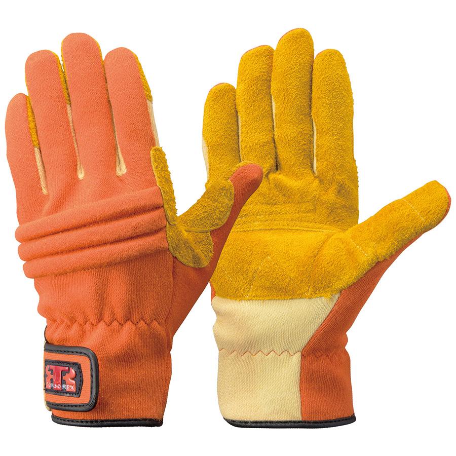 トンボレックス ケブラー(R)繊維製手袋 K−346R オレンジ LL