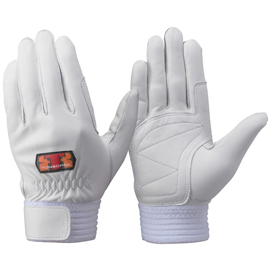 トンボレックス 羊革手袋 R−330W 中厚タイプ ホワイト LL
