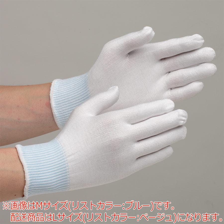 低発塵 耐切創性手袋 カットレジストインナー L NO.145 ノンコート 10双