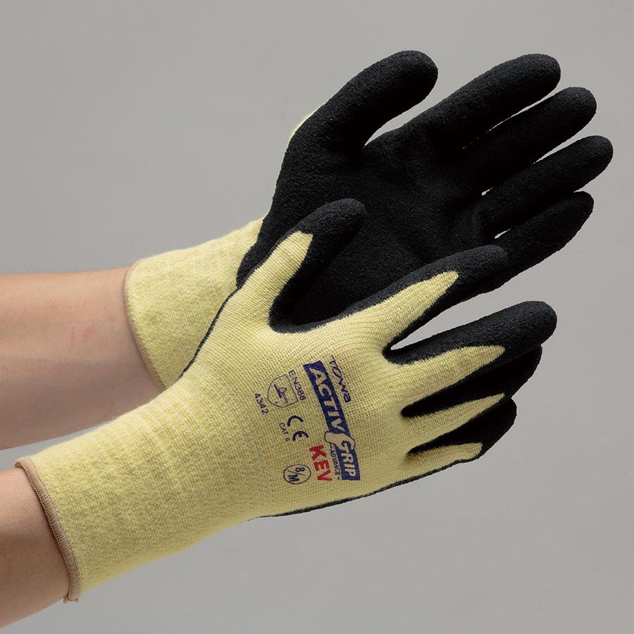 耐切創手袋 アクティブケブラー 8/M(L) 8インチ (販売単位:12双)