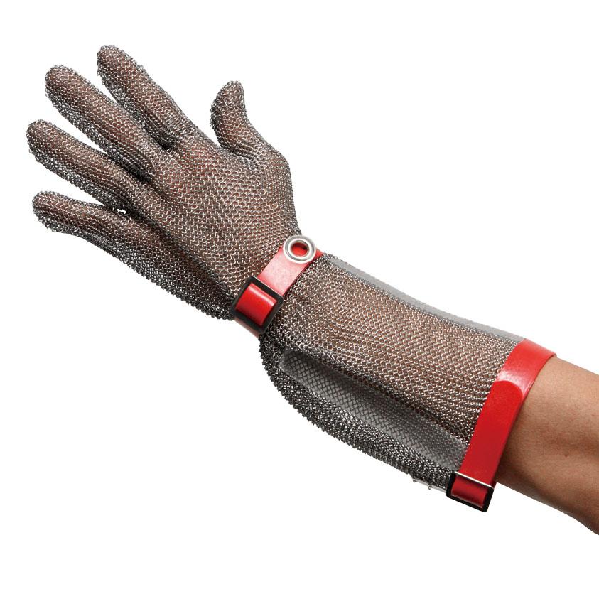 耐切創性手袋 MST−550(M)PU M 鎖手袋 5本指 ロングマグネット