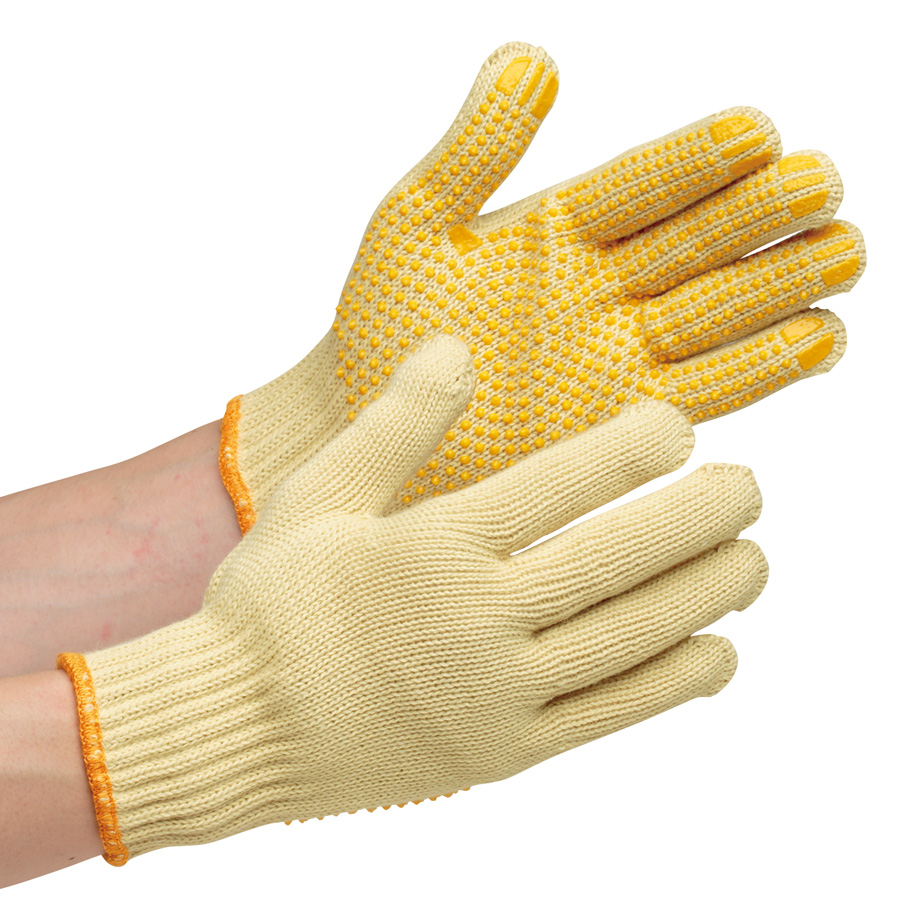 耐切創性手袋 イエローガード072V すべり止め付 10双/袋(販売単位:10袋)