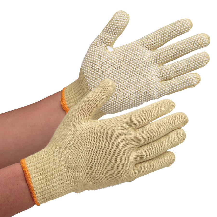 耐切創性手袋 イエローガード102V すべり止め付き 10双/袋(販売単位:10袋)