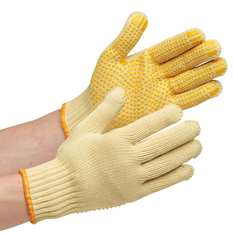 耐切創性手袋 イエローガード072V すべり止め付き 10双/袋(販売単位:10袋)